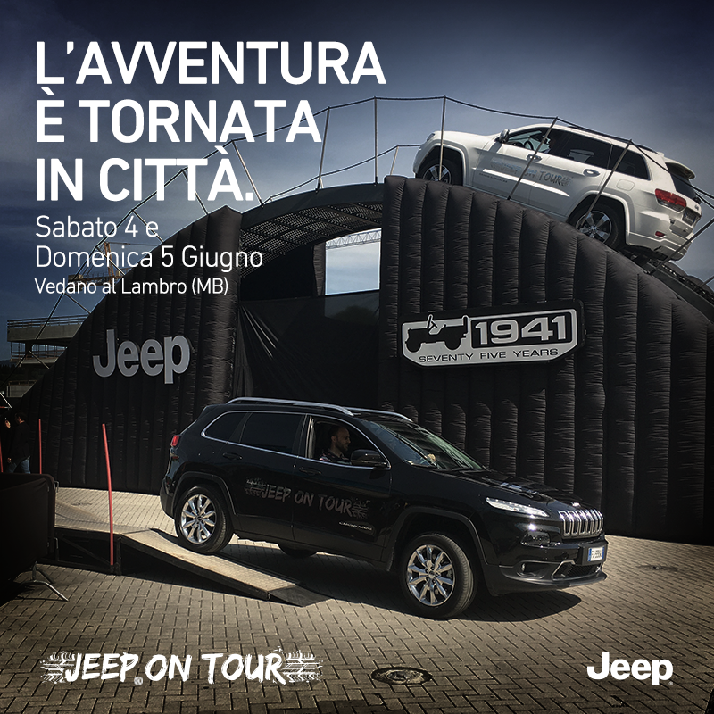 JeepIT sabato 4 June Jeep On Tour reminder Tappa 7