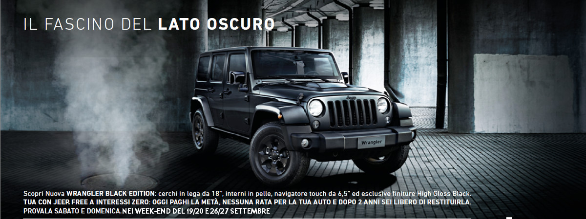 Offerta Jeep Wrangler Black Edition